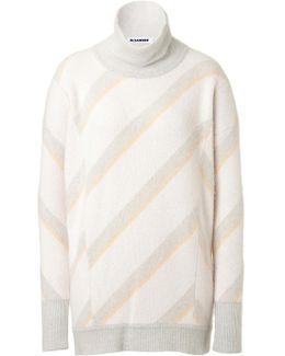Cashmere Striped Turtleneck Pullover