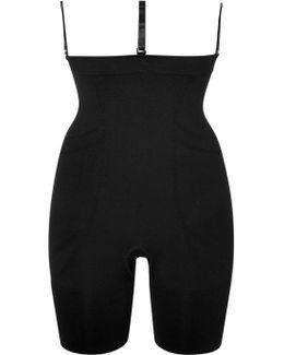 Slim Cognito Mid-thigh Bodysuit In Black