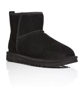 Suede Classic Mini Crystal Bow Boots