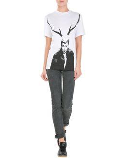 Low-waist Skinny Distressed Jeans