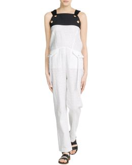 Perforated Cotton Overalls