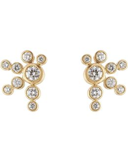 Flacon De Neige 18k Gold Earrings With Diamonds