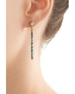 Magic Wand 18kt Earrings With Turquoise, Opal And Diamonds