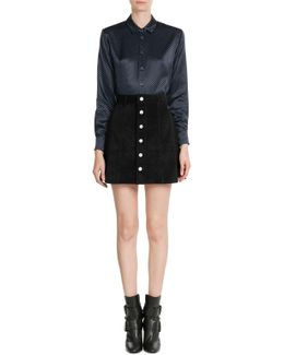 The Gove Suede Skirt