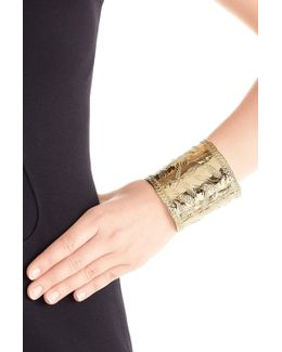 Françoise 18kt Gold Plated Embossed Cuff