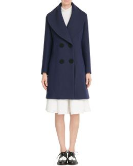 Wool Coat With Silk