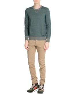 Wool-cotton Pullover