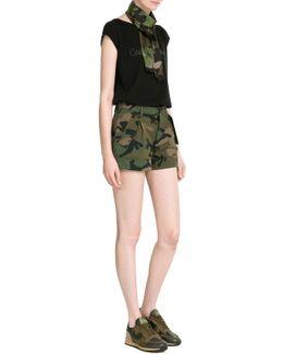 Cash & Rocket Camouflage Cotton Shorts