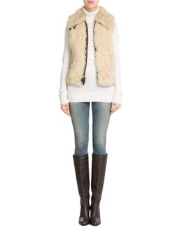 Lamb Leather And Shearling Vest