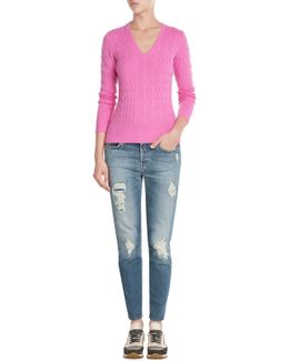 Cashmere Cable Knit Pullover