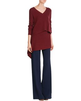 Cashmere Pullover With Asymmetric Hem