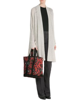 Linen Tote With Sequin Embellishment