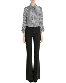 Flared Wool Pants