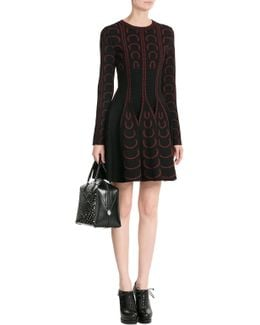 Printed Dress With Wool