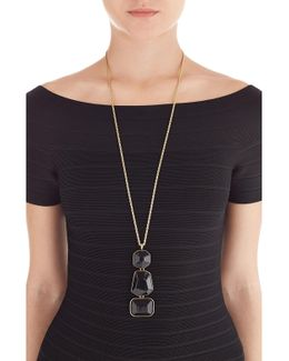 Black And Gold-tone Statement Necklace