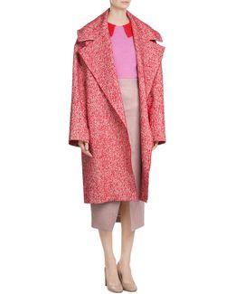Oversized Heathered Coat