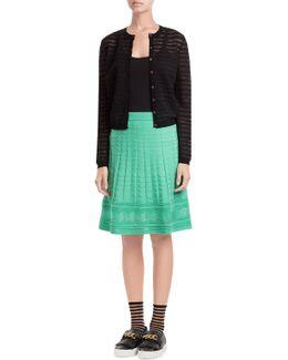 Flared Crochet Knit Skirt