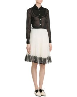 Flared Skirt With Lace