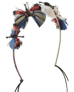 Bead And Feather Embellished Headband