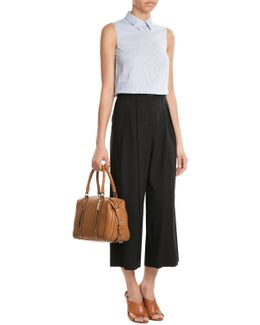 Virgin Wool Pleated Front Culottes