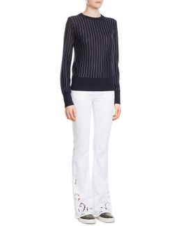 Penelope Flared Jeans With Cut-out Detail