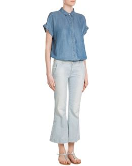 Flared And Cropped Jeans