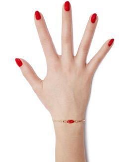 9kt Gold-plated Silver Grandma Lips Bracelet