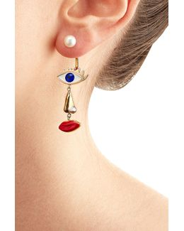 9kt Yellow Gold Earring With Pearl