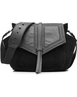 Leather And Suede Shoulder Bag