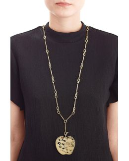 18kt Yellow Gold-plated Apple Long Necklace
