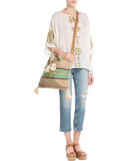 Billy Woven Cotton Shoulder Bag