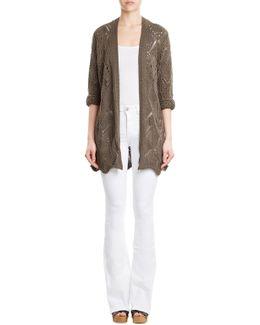 Cotton Blend Knit Cardigan