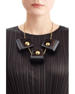 Statement Necklace With Wood