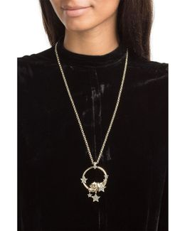 Embellished Necklace With Tiger Motif