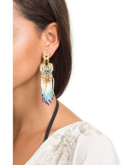 Apache Small 24kt Gold Plated Chandelier Earrings