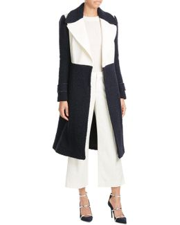 Two-tone Wool Coat