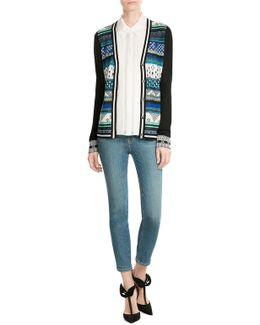 Dina Printed Cotton-blend Cardigan