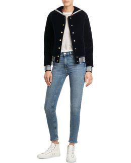 Velvet Varsity Jacket