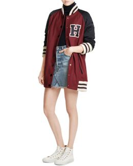 Long Wool Varsity Jacket