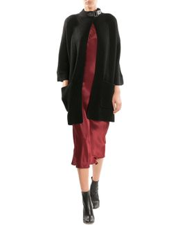 Wool Cardigan With Buckle - Black