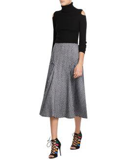 Midi Skirt With Wool