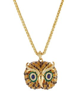 Embellished Owl Necklace