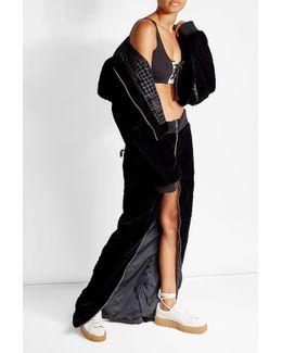 Velvet Maxi Zip Skirt
