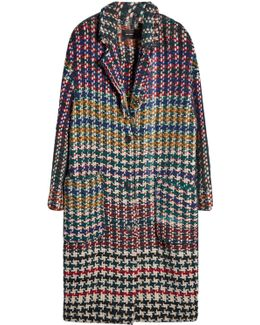 Coat With Wool, Alpaca And Mohair
