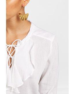 18kt Gold Plated Gingkoblatt Earrings