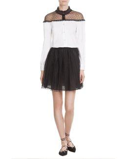 Dotted Tulle Mini-skirt