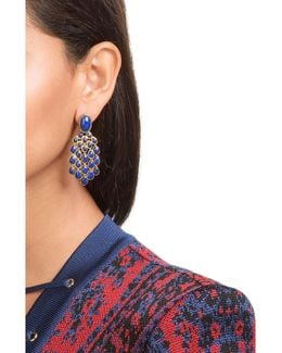 18kt Gold Plated Lapis Lazuli Earrings