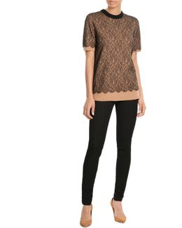 Cashmere Top With Lace