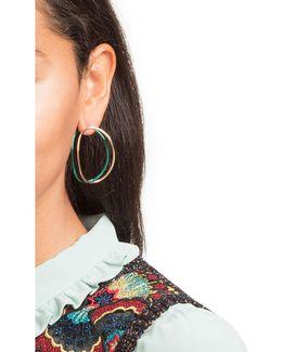 Big Ear-clipse Hoop Earrings In 18kt Gold