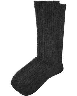 Ribbed Knit Socks